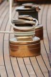 Accastillage de Bateau; Oberwerk des Bootes Stockbild
