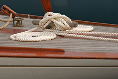 Accastillage de bateau ; Upperworks of boat Stock Photo