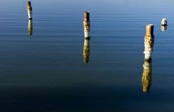 Accatastamenti del mare di Salton Fotografia Stock