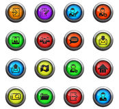 Accaunt icon set Royalty Free Stock Images
