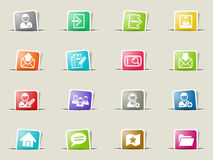 Accaunt icon set Royalty Free Stock Photography