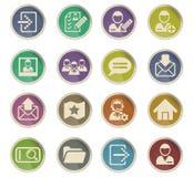 Accaunt icon set Royalty Free Stock Photos