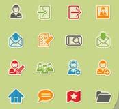 Accaunt icon set Stock Photography