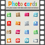 Accaunt icon set Stock Image