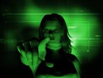 Accedi a assegnato (sfuocatura) Fotografie Stock