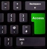 Accedi a sulla tastiera Fotografie Stock Libere da Diritti