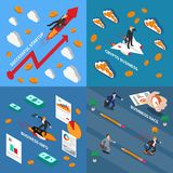 Accelerate Business 2x2 Design Concept vector illustration