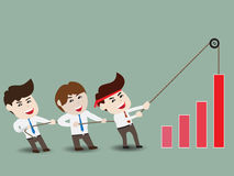 Accelerate business growth. Businessman accelerate business growth, vector illustration Stock Image