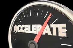 Accelerate Reach Top Level Speedometer Royalty Free Stock Photos