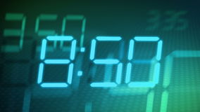 Accelerated digital clock stock video