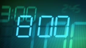Accelerated digital clock stock video