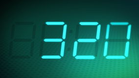 Accelerated digital clock + alpha matte.
