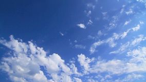 Accelerated fluffy clouds stock footage