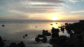 Accelerated video, Sunrise over the Red Sea. Marsa Alam, Egypt stock video