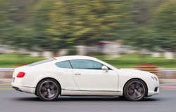 Accelerating Bentley Continental, Beijing, China Royalty Free Stock Images