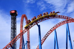 Roller coaster speed Royalty Free Stock Photography