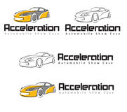 Acceleration Automobile showcase. Acceleration Automobile Company logo design Stock Photography