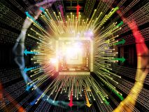 Acceleration of Digital Processor Stock Photography
