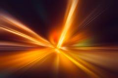Acceleration för suddighetshög-makt blixt royaltyfri foto