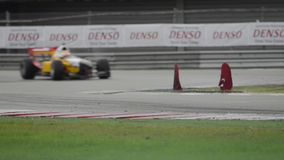 Acceleration Grand Prix Formula A1 championships Wet Race stock video footage