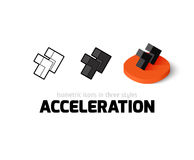 Acceleration icon in different style. Acceleration icon, vector symbol in flat, outline and isometric style Royalty Free Stock Photography