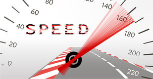 Acceleration limit on the highway Stock Photography