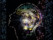 Acceleration of Machine Consciousness Stock Image
