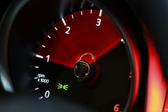 RPM METER (Tachometer/odometer). A moving odometer illustrating acceleration Stock Image