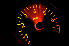 Acceleration RPM. RPM meter acceleration, tachometer isolated royalty free stock images
