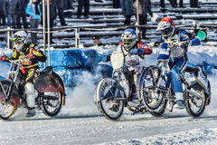 On acceleration. Russia. The Republic Of Bashkortostan. The Ufa. Racing on ice. The Championship Of Russia. A final . February 1, 2014 Stock Photo