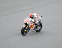 Accelerazione di Marco Simoncelli Fotografia Stock