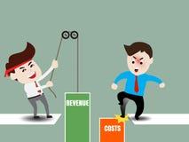 Acceleri la crescita di affari Immagine Stock