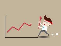 Acceleri la crescita di affari Fotografia Stock
