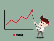 Acceleri la crescita di affari Immagini Stock