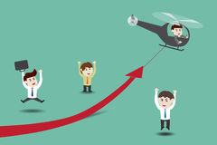 Acceleri la crescita di affari Immagini Stock Libere da Diritti