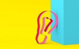 Accenda dal nastro nei colori luminosi basati sullo shap geometrico Immagine Stock