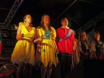 Accendere di luci di natale di Chorley Fotografie Stock