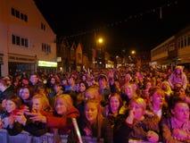 Accendere di luci di Natale di Chorley Fotografia Stock Libera da Diritti
