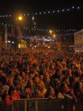 Accendere di luci di Natale di Chorley Immagini Stock
