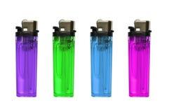 Accendini colorati isolati Fotografia Stock Libera da Diritti