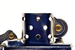 Accendino fatto di acciaio nella forma aperta Colore d'argento Fotografia Stock Libera da Diritti