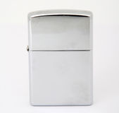 Accenditore d'argento di zippo immagini stock