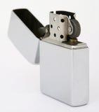 Accenditore d'argento di zippo Fotografia Stock Libera da Diritti