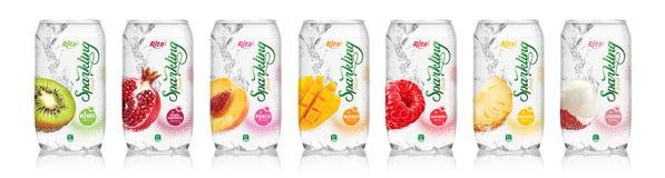 Accensione del succo di frutta dalla bevanda di RITA immagine stock