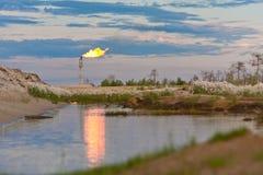 Accensione di gas di olio Fotografia Stock Libera da Diritti