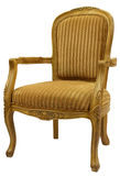 Accent Chair. Traditional Style Accent Chair in Gold Finish Stock Images