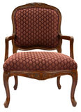 Accent Chair. Traditional Style Accent Chair with Cherry Wood  Trim Royalty Free Stock Image