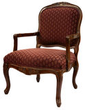 Accent Chair. Traditional Style Accent Chair with Cherry Wood  Trim Royalty Free Stock Images