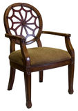 Accent Chair in Cherry Wood Royalty Free Stock Photo