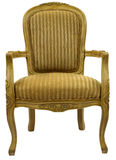 Accent Chair in Gold Finish. Traditional  Style Accent Chair in Gold Finish Royalty Free Stock Images